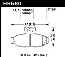 Hawk Performance HB580F.627 Rear High Performance Brake Pads
