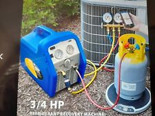 New Listing110 120v 60 Hz Portable Refrigerant Recovery Machine Single Cylinder 34hp Vivo