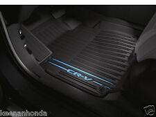 Genuine OEM Honda All New CR-V Black/Blue All Season Floor Mat Set Mats 2017 CRV