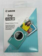 Canon Ivy CLIQ 2 Instant CAMARA PRINTER Turquoise NEW OPEN BOX