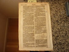 "(Bible Leaf) Leaf from the King James ""She"" Bible, printed in 1613.    #14-329"