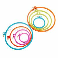 """Plastic Round Cross Stitch Machine Embroidery Hoop Ring Sewing Craft 3""""-10"""""""