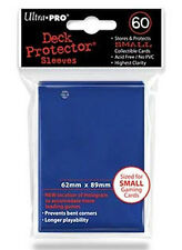 Ultra Pro Deck Protector Small Card Sleeves 60 x BLUE YuGiOh Vanguard 62 x 89mm