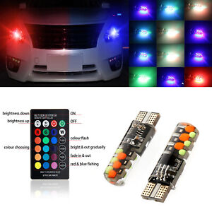 Universal Car Suv 12V RGB LED Multi Mode Remote Control Light Bulb Parking Lamp