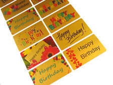 Large Gold Happy Birthday Greeting Stickers, Labels for Cards, Envelopes-HBG5230