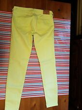 HOLLISTER FADED LIME ULTRA SKINNY JEANS 3 R