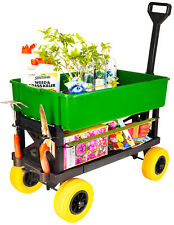 Mighty Max Cart - Garden Cart Dump Tub Fishing and Camping Cart, Flatbed