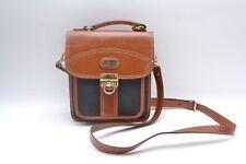 Gorgeous Genuine Vintage Black and Tan Leather Handbag/Shoulder Bag