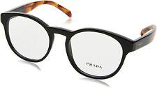 PRADA PR 16TV 1AB1O1 Black Demo Lens 52 mm Women's Eyeglasses
