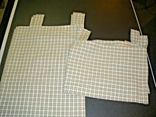 2 Piece Set Green & White Check Window Valances & Curtains Louis Hornick