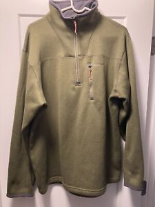 Simms Rivershed Quarter Zip Pullover Sweater Large