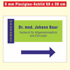 5 mm Acrylglas-Schild (Plexiglas), 50 x 30 cm mit Folienplott oder Digitaldruck