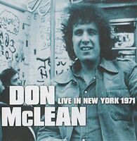 Don McLean - Live In New York 1971 [CD]