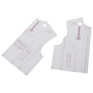 2pcs/set 1:5 Women Clothes Prototype Ruler Drawing Template Tailor Sewing T ^lk