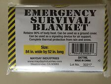 """Lot of 4 MAYDAY THERMAL EMERGENCY SURVIVAL BLANKET- 84""""x 52"""" -Any Emergency Kit!"""