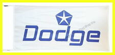 DODGE FLAG BANNER  WHITE avenger caliber charger magnum 5 X 2.45 FT 150 X 75 CM