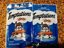 2 Bags Whiskas 3-oz. Temptations Savory Salmon Cat Treats Crunchy & Soft
