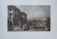 Das fürstlich Liechtensteinsche Gartenpalais - Kupfertiefdruck 1923 Canaletto