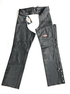 "*NEW* Harley Davidson ""Stock"" Women's Leather Chaps, 98090-06VW Size Medium"