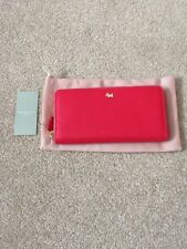 Radley Blair Large Zip Around Purse. Hot Pink Fuchsia Leather. New with Tag.