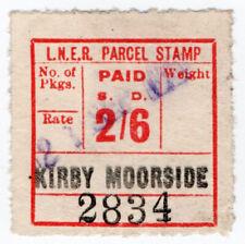 (I.B) London & North Eastern Railway : Parcel Stamp 2/6d (Kirby Moorside)