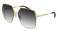 Neues AngebotGucci Sonnenbrille GG0817S  001 Goldgrau - Frau