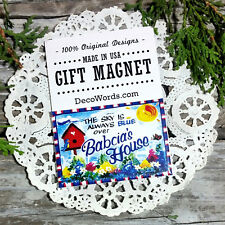 BABCIA'S * Gift Magnet New In Pkg *Exclusive Design  relatives family names USA