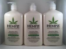 Hempz Sensitive Skin Body Moisturizer Hemp Seed After Tan Lotion Supre Lot 3
