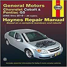 Haynes Pontiac G5 GT (07-09) propriétaires service repair workshop manual Manuel Livre