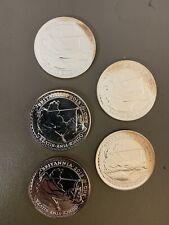 Lot of 5 - 2013 1 Oz. Silver Britannia Coins