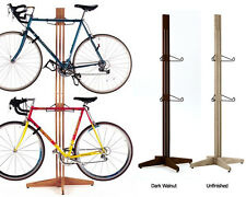 Gear Up 4 BIKE Bicycle GARAGE Apartment FREESTANDING Rack ~  Unfinished ~ OAK