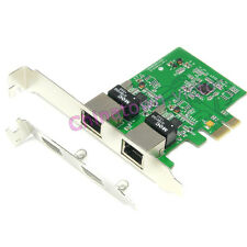 Dual Port 1000M Gigabit PCI-e Express Ethernet Network Lan Card Adapter Win Mac