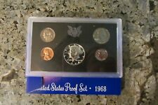 1968 U.S. PROOF SETS - BOX OF 10 IN ORIGINAL SHIPPING BOX - UNLABELED - OPENED