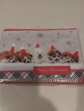 Hallmark Merry Christmas Puppies Snow Holiday Greeting Cards Envelopes New Box