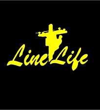 Line Man Electrical Power Worker LINE LIFE in YELLOW  >> FREE US SHIP