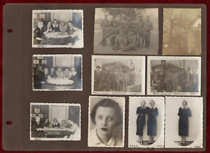 Lot of 10 Original Photos 1935 Serbia Macedonia Prilep Militaria Women Fashion