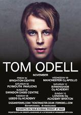 Tom Odell 2016 Uk Concert Tour Poster - Indie Pop Music