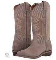 NIB FRYE Women's Billy Stitch Pull On Western Boots Elephant Size 10 MSRP $298