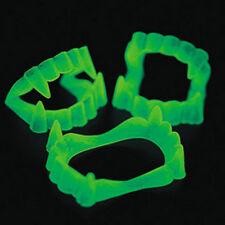 24 Brilla en la oscuridad dientes de Vampiro Fangs Disfraz de Halloween Fiesta