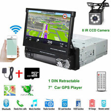 "7"" Flip HD Car Stereo Radio MP5 Player Single 1Din GPS Navi Bluetooth + Camera"