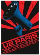 U2 EXPERIENCE + INNOCENCE PARIS EVENT TOUR SCREENPRINT Promo Nos 689 BIN !