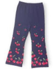 NWT Gymboree Girls Cherry's Line Navy Cherry Flare Leg Leggings Size 18-24 M