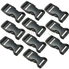 "10pcs 25mm 1"" Plastic Side Release Buckles Sliders Fasteners For Webbing Straps"