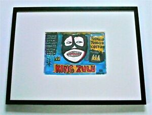 """JEAN-MICHEL BASQUIAT, """"KING ZULU"""", A SIGNED ORIGINAL PAINTING NEO-EXPRESSIONIST"""