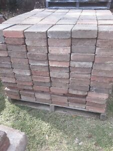 Pavers used 230mm x 185mm. Stacked 300 per pallet. Charged per pallet.