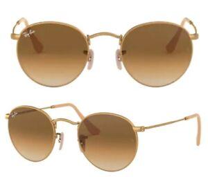 Ray-Ban Damen Herren Sonnenbrille RB3447 112/51 50mm Round Metal gold matt RB12