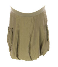 9FASHION RULLY MATERNITY Women's Olive Tulip Skirt w/ Pockets US Size S NEW $85