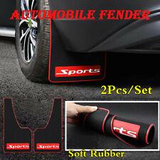 2Pcs/Set Sports Black Soft Rubber Car Mud Flaps Splash Guard Fender Mudguards