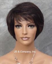 100% Human Hair SHORT Body Wavy WIG Black Perma Tease Crown ufa 1B