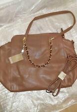 CARPISA BNWT Beige Brown Taupe Bag Gold Detail Chain short long medium large
